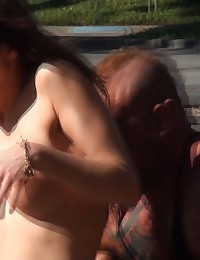 Sharking Girl With Perfect Boobs