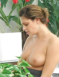 Brandi Belle - Sinful redhead babe gets fucked by strap on cock