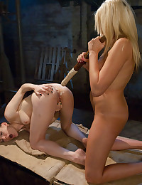 Hot ass strapon fucked