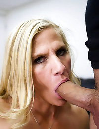 Big dick fucks milf in office
