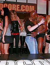 Very horny guys shagging drunk girls at a sex club