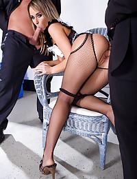 Greedy Maid Enjoys Two Dicks