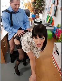 Seductive Office Babe Rammed Raw