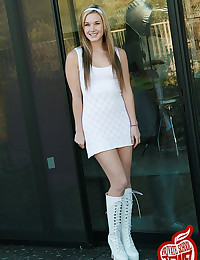 Boots and a dress