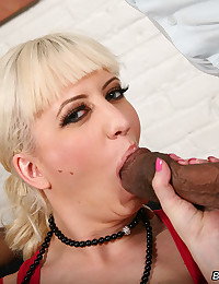 Naughty Blond Loves Black Cock