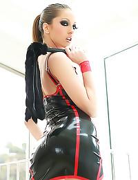 Jenna Haze in latex dress