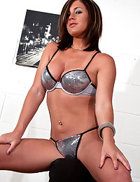 High heels and sexy bra