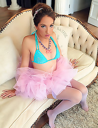 Jenna Haze in ballerina skirt
