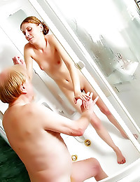 Shower fuck with teenager
