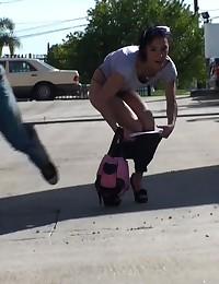 Skinny Girl In Leggings Sharked