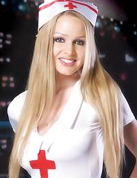 Hot busty blonde nurse