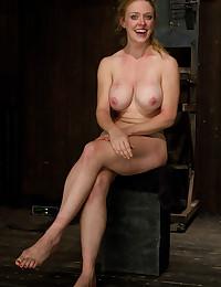 Big tits redhead hard bondage