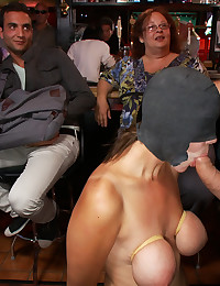 Blindfolded Babe Fucked In The Pub