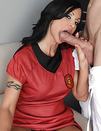 Soccer chick has anal sex