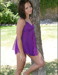 Jordan Capri - Very young cuttie in sexy purple dress