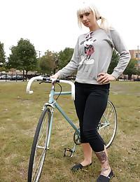 Cute Lynn Out On Her Bike