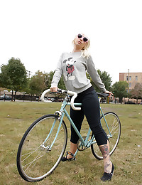 Cute Lynn Out On Her Bike