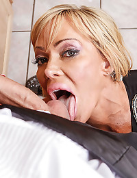 Very Busty Milf Spreads For Cock