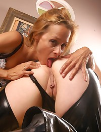 Foxy French maid and fat lesbian