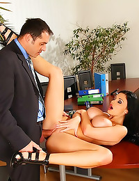 Aletta Ocean office hardcore sex