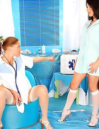 Lesbian nurse sex with toys