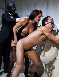 Dominatrix Punishes Her Submissive Man