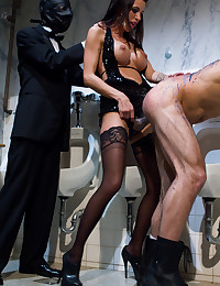 Dominatrix Punishes Her Submissive Man