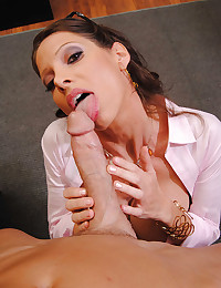 Gorgeous Office Babe Angel Gets Drilled