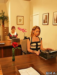 Monique picked one hell of a day not to wear panties! When an impromptu party breaks out at the NYC agency where she works, Monique finds herself alone in the boardroom with Danny, who is determined to dip his pen in the company ink!