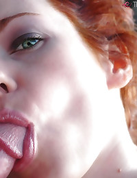 This gorgeous redhead MILF craves cock 24/7.