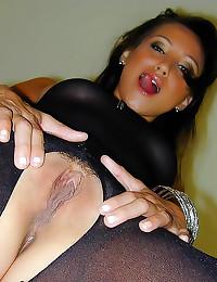 Delightful brunette loves her...