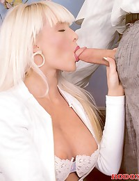 Horny and sexy retro blonde banged doggystyle