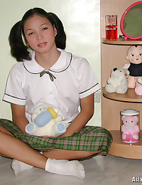 Adorable teen schoolgirl