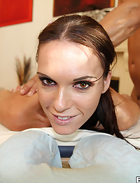Tight Pussied Jennifer Rides Fat Cock