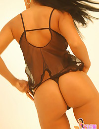 Selena Spice - Fabulous dark haired angel in fashionable expensive lingerie