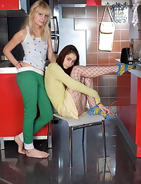 Natasha Shy - Teenage puss and her lesbian girlfriend get rid of their clothes