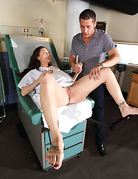 Hot doctor bitch takes husband
