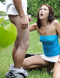 Teen Gets Banged Outdoors