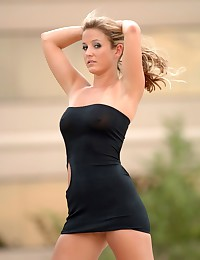 Lia 19 - Fantastic young broad in very tight mini dress