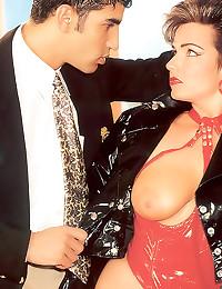 Latex on slut in vintage sex