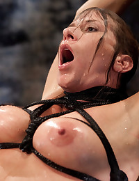 Ariel is bound & fucked by the water powered fuck machine. Her sensitive pussy is tormented by the liquid pressure. She is dunked & vibed into orgasm.