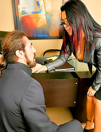 Eva Angelina stunning office ...
