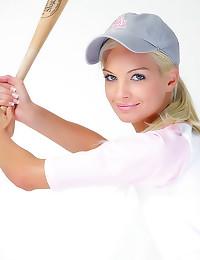 Gorgeous teen baseball babe