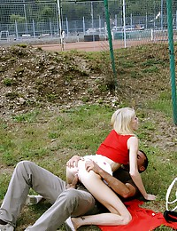 Young girl getting fucked in public places