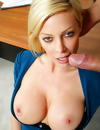 Busty blonde teacher fucked h...