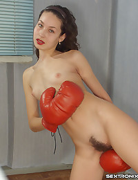 Boxer has hairy pussy