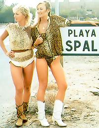 Retro beach group sex