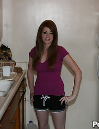 Tattooed Redhead Babe Niki Rides Dick