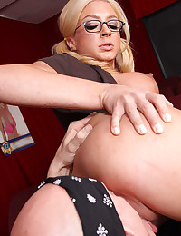 Busty Babe With Glasses Gets Drilled