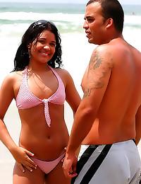 His beach babe is a slut